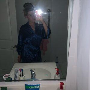 Silky bathrobe